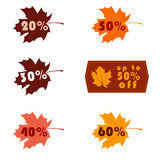 Autumn big sale Royalty Free Stock Image