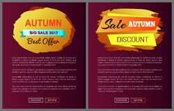 Autumn Big Sale 2017 Best Offer Special Discount Stock Photos