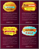 Autumn Big Sale 2017 Best Offer Special Discount Royalty Free Stock Photography