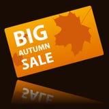 Autumn big sale card Stock Image