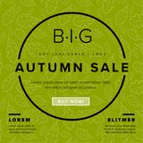 Autumn big sale vector retro flyer Stock Images