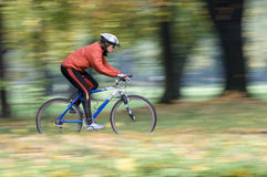 Autumn bike riding Stock Photography