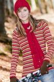 Autumn biking Stock Photography