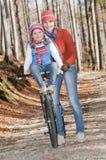 Autumn biking royalty free stock image