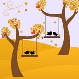 Autumn and birds Royalty Free Stock Images