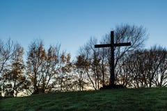 Autumn Black Cross Stock Images