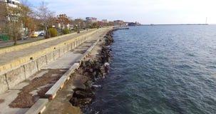 Autumn Black Sea en Pomorie, Bulgaria fotografía de archivo