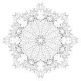 Autumn black and white radial pattern Stock Photography