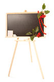 Autumn blackboard in studio with rowanberry Royalty Free Stock Photography