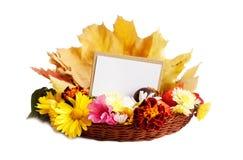 Autumn blank card i Royalty Free Stock Photo