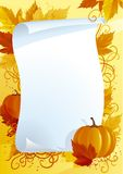 Autumn blank for thanksgiving Stock Photo