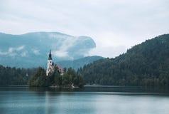 Autumn Bled Lake, Slovenia Royalty Free Stock Image