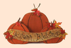Autumn Blessings. Cheerful sigh depicting the coming of autumn, fall, halloween, thanksgiving Royalty Free Stock Image