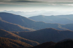 Autumn, Blue Ridge Parkway. NC royalty free stock photos