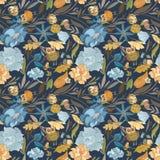 Autumn Blue Vector Pattern créatif Photo libre de droits