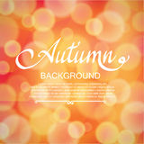 Autumn blurred orange abstract vector background Stock Photo