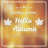 Autumn blurred royalty free stock photos