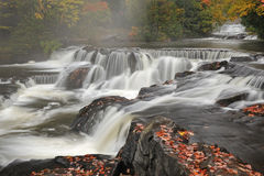Autumn, Bond Falls Cascade Royalty Free Stock Photos
