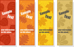 Autumn bookmarks for promotion Stock Photos