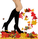 Autumn boots Royalty Free Stock Photo