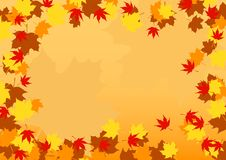 Autumn border Royalty Free Stock Photography