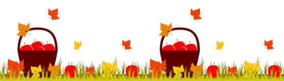Autumn border Royalty Free Stock Images