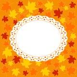 Autumn border menu Stock Photography