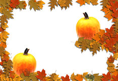 Autumn Border Seasonal Background. An autumn themed bordered background with many uses Royalty Free Stock Image