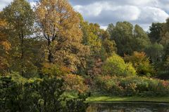 Autumn in the botanical garden Royalty Free Stock Photography