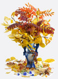 Autumn bouquet. On the white background Royalty Free Stock Photography