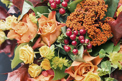 Autumn bouquet. Beautiful autumn bouquet close up Royalty Free Stock Photography