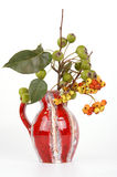 Autumn bouquet with berries of hawthorn and pear Royalty Free Stock Images