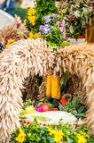 Autumn bouquet with corn. For a traditional autumn festival in austria Stock Photography