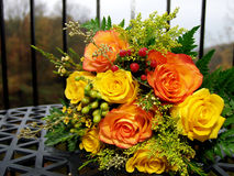 Autumn rose bouquet Royalty Free Stock Photos