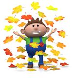 Autumn boy Royalty Free Stock Photos