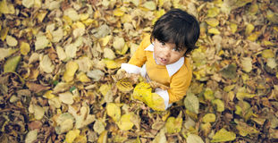 Autumn Boy Lizenzfreies Stockbild