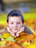 Autumn boy  portrait Royalty Free Stock Photo