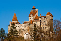 Autumn at Bran Castle (Dracula's Castle) stock photos