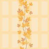 Autumn branch seamless background. Vector illustration Stock Image