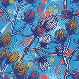 Autumn branches retro seamless pattern Royalty Free Stock Photos