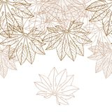 Autumn braun leaves background - vector. Illustration Stock Photography
