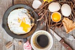 Autumn breakfast in nature Stock Image