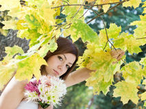 Autumn bride Stock Images