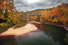 Autumn Bridge Royalty Free Stock Image