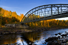 Autumn bridge Stock Photography