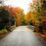 Autumn Bridge Fotografia Stock Libera da Diritti