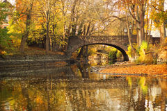 Autumn Bridge Imagem de Stock Royalty Free