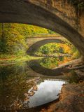 Autumn Bridge in Neu-England Stockfotografie