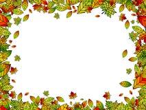 Autumn Bright Leaf Border Stock Afbeelding