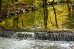 Autumn Brook with Waterfall Royalty Free Stock Photography